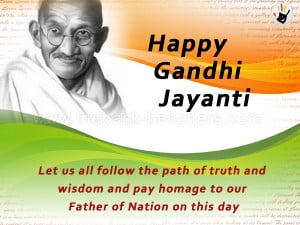 Happy Gandhi Jayanti wallpapers, quotes, Mahatma Gandhi images wishes