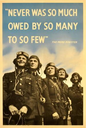 ww2 propaganda poster raf pilots churchill quote