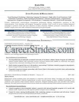 ResumeSamplesby NationallyCertified Resume Writer