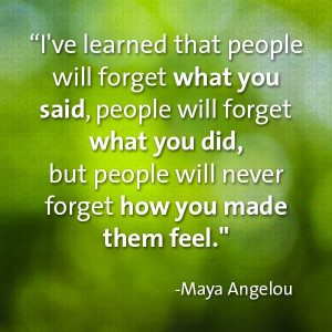 People never forget how you made them feel #caregiver #inspiration