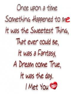 Once Upon A Time Something Happened To Me It Was The Sweetest Thing ...