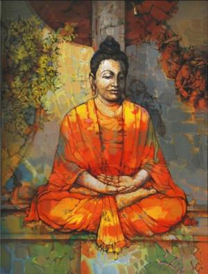 Lord Buddha Meditation Painting HD | Lord Buddha Images