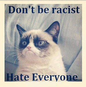 animals funny pictures funny quotes grumpy cat humor lol racism leave ...