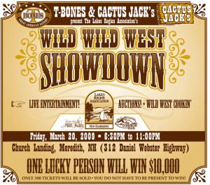 each ticket will give you 2 admissions to the wild wild west showdown ...