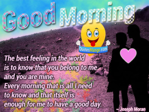 Cute Good Morning Quotes For Your Boyfriend Good morning sweet ...