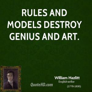 William Hazlitt Art Quotes