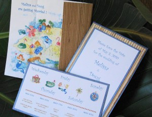 Hawaiian Phrases for unique Hawaiian Wedding Invitations