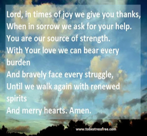 prayers for strength when in trouble or distress 1