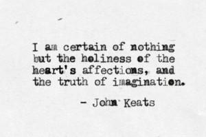 Love Keats