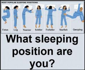 Sleeping position?