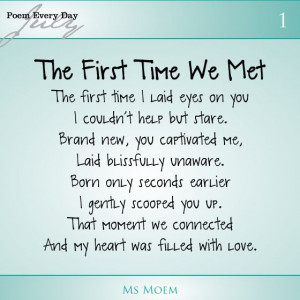 first time we met   poem about meeting your baby for the first time ...