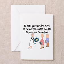 Retired Nurse Story Art Greeting Card for