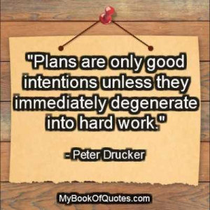 Peter Drucker Quotes on Planning