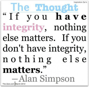 Integrity quotes, thoughts, wise, sayings