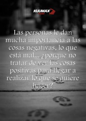 Quitemos de nuestro padel a las personas negativas