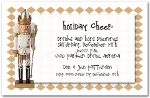 Golden Nutcracker Holiday Invitations, Christmas Invitations | Order ...