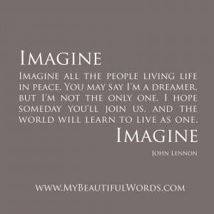 John Lennon Imagine Peace...