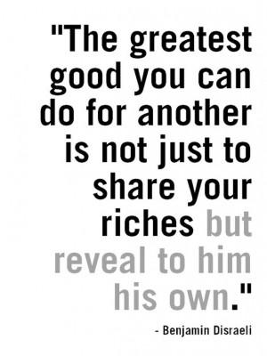 Love This Benjamin Disraeli Quote