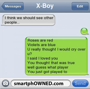 Break-Up Texts that Will Make You Cringe. #4…Ouch!!
