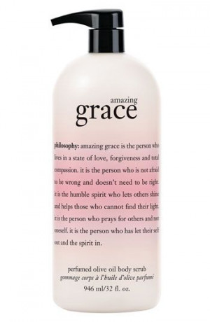 Philosophy 'Amazing Grace' Perfumed Olive oil body scrub. For those ...