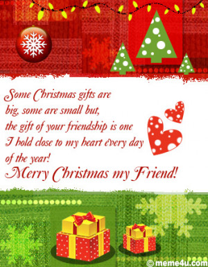 ... friendship, christmas greeting for friend, christmas ecard for friend
