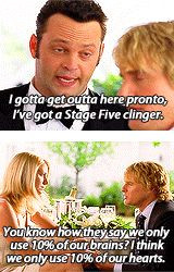 Two great quotes from #WeddingCrashers -