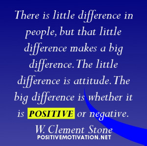 motivational quote of the day about positive attitude