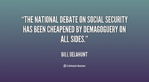 The national debate on Social Security has been cheapened by ...