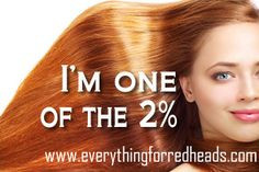 one of the 2%! Are you? #redheads