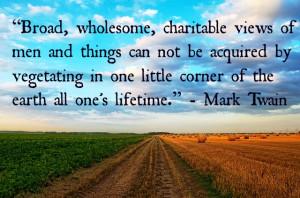 Mark Twain Quotes Noblequotes Travel