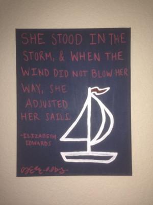 Elizabeth Edwards Sailboat Quote by SratsStyle on Etsy, $20.00