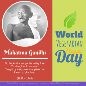 ... Under: Celebrations , Global Table , Holidays , world vegetarian day