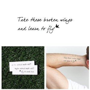 beatles temporary tattoo quote set of 2 from tattify 1 customer review ...