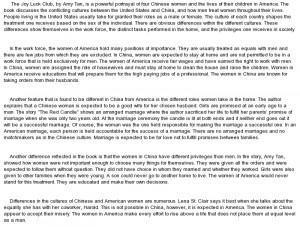 Amy Tan Joy Luck Club Quotes