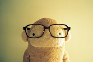 ... cute, glasses, kawaii, lifestyle, monkey wearing glasses, monkeys, ne