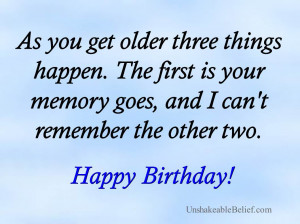 funny-Quotes - Birthday - Three Things