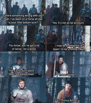Banter of Merlin and Arthur
