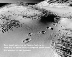 Footprints - Quote Mini Poster