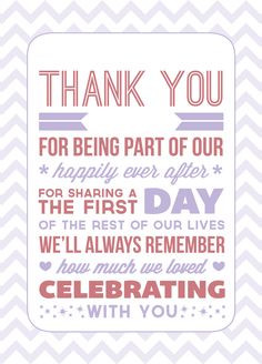 Cute Wedding Thank You Quotes QuotesGram