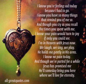 ... Memory Cards – I know you're feeling sad today because I had to go