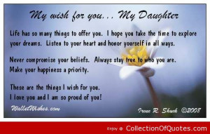 My Wish For You My Daughter | Picture Quotes