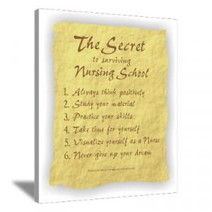 ... > Wall Art > Canvas Art > The Secret to Nursing School Canvas Art