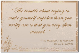 The Magician's Nephew' by C. S. Lewis