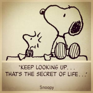 Snoopy quote on optimism