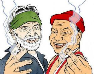 Cheech and Chong Smoking Weed