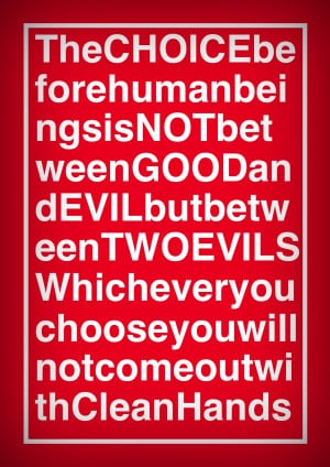 Good And Evil Quotes Quote on good and evil