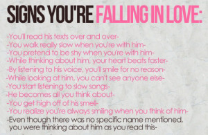 ... it. So here are the top five signs that you are falling out of love
