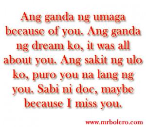 Tagalog Jokes | Inspirational Tagalog Love Quotes, Tagalog ...