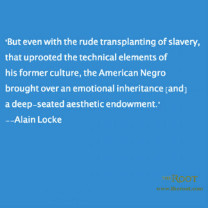 Quote of the Day: Alain Locke