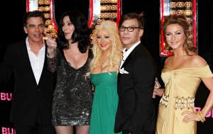 Peter Gallagher, Cher, Christina Aguilera, Steve Antin, Julianne Hough